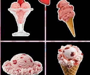 ice cream, overlay, and pink image