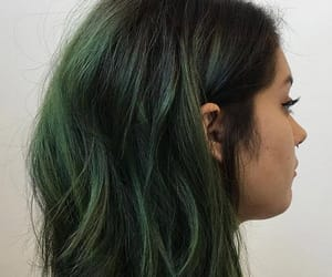 color, green, and hair image