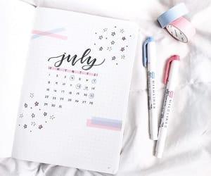 calendar, inspiration, and july image