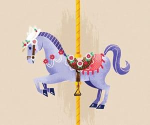 animal art, animals, and carousel image