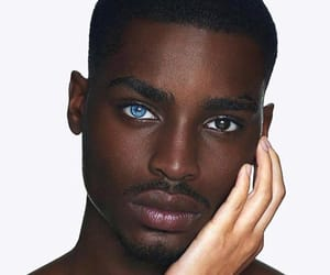 beautiful, eyes, and black guy image