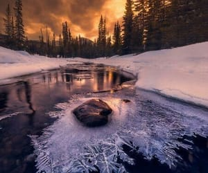 nature, winter, and ice image