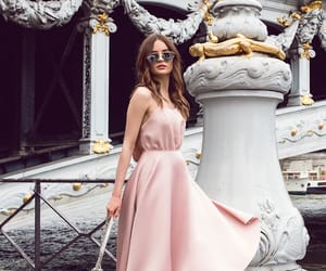 fashion, girl, and pink dress image