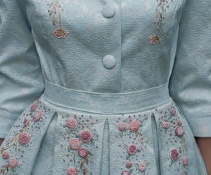 blue, vintage, and dress image