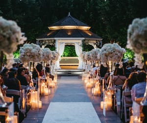 aisle, beauty, and candles image