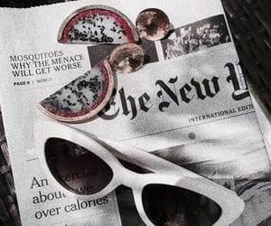 theme, sunglasses, and newspaper image