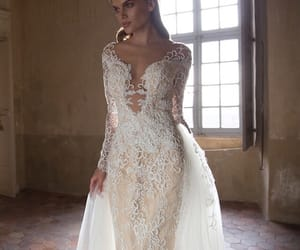 beauty, bride, and lace image