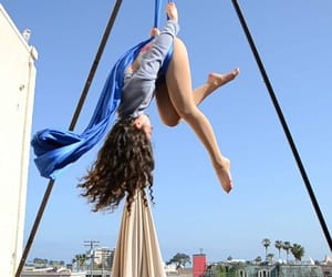 aerial, blue, and dance image