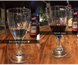 funny, water, and wine image