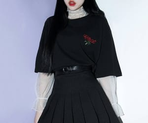 black, gothic, and style image