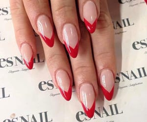 nails and red french image