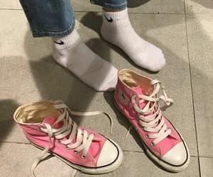 socks, all star, and pink image