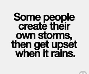quotes, rain, and storm image