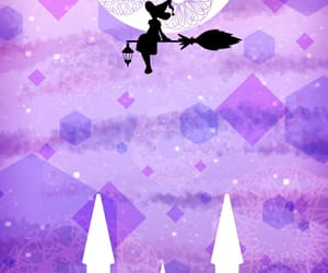 fairy, moon, and girl image