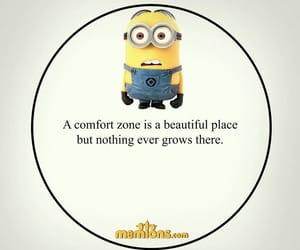 comfort zone, minions, and quotes image