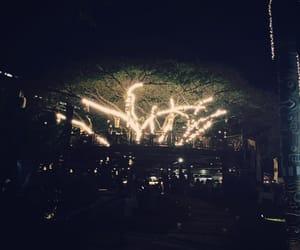 art, nightlife, and moon image