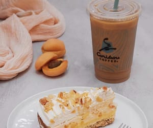 apricot, cake, and cheesecake image