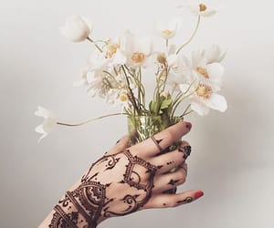 flowers, tattoo, and photography image