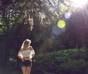 boho, forest, and girl image