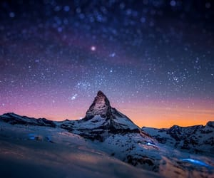 stars, mountains, and sky image