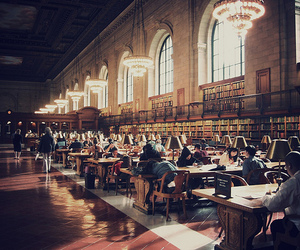 books, library, and nyc image
