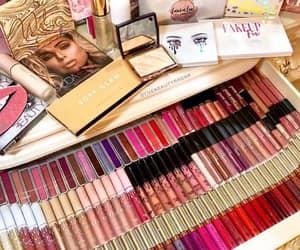 colorful, lip gloss, and makeup image