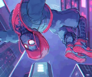 spiderman, miles morales, and new print for smash image