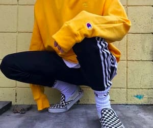 style, vans, and yellow image