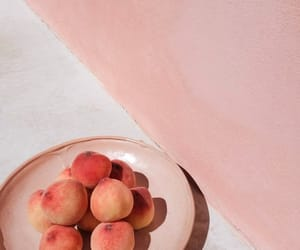 art, pink, and peaches image