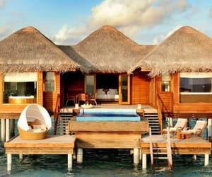 holidays, resort, and Maldives image