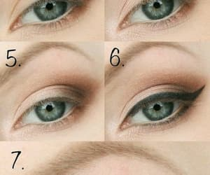 makeup, tutorial, and eyes image