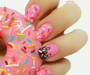 nails, donut nails, and summertime fun nails image
