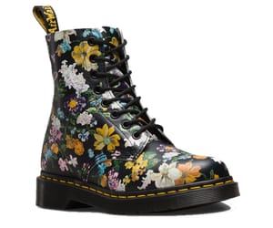 boots, flowers, and black image