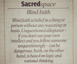faith, choose wisely, and blind faith image