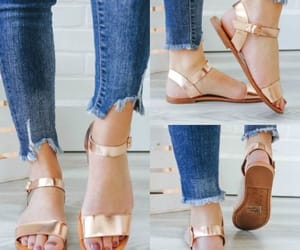 strappy flat sandals image