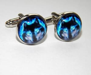 etsy, wedding cufflinks, and wolves image