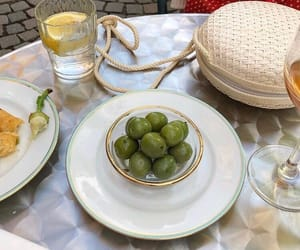 drink, food, and olives image