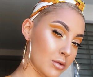 beauty, earrings, and orange image