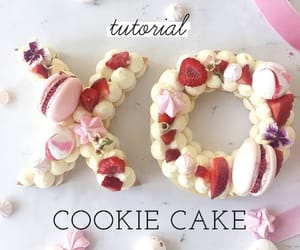 cake, cookie, and fruit image