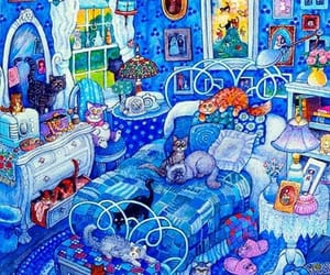 cats, Gatos, and paintings image