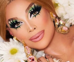 drag, drag queen, and flower image