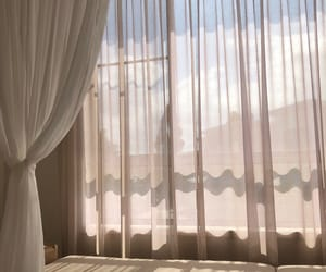 aesthetic, sky, and curtains image