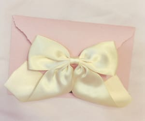 bow, Letter, and pink image