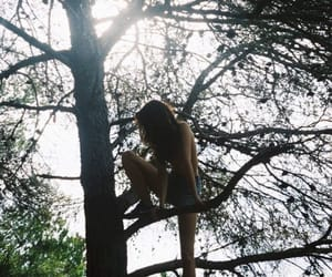 tree and girl image