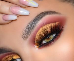 eyeshadow and nails image