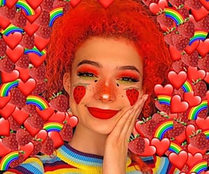 aesthetic, girl, and hearts image