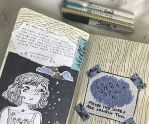 art, art journal, and astronomy image