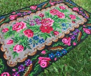 black carpet and black carpet with roses image