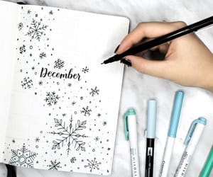 snowflake, bullet journal, and bujo ideas image