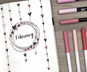 art, february, and hearts image